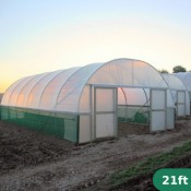 21ft Wide Polytunnel
